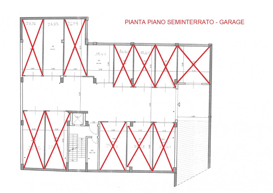 piano seminterrato garage